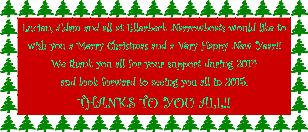 Christmas and New Year wishes from Ellerbeck Narrowboats